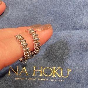 NA HOKU Diamond Hoop Earrings